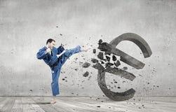 Евро нападения человека карате Стоковое фото RF