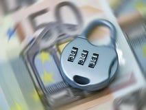 евро обеспеченное Стоковое фото RF