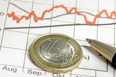 евро одно монетки стоковые фотографии rf