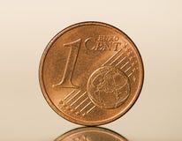 евро одно цента Стоковые Фото