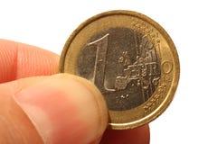 евро одно стоковая фотография rf
