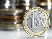 евро одно Стоковое Изображение