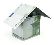 Евро дома денег Стоковое Изображение