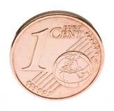 евро одно монетки цента Стоковая Фотография RF