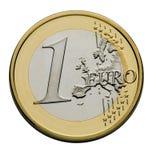 евро одно монетки Стоковые Изображения RF