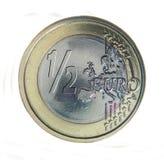 евро половинное Стоковое Изображение