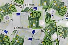 евро предпосылки 100 одних Стоковые Фотографии RF