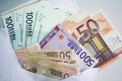 евро предпосылки Стоковые Изображения RF