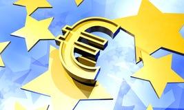 евро предпосылки иллюстрация вектора