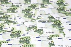 евро предпосылки 100 одних Стоковое Изображение RF