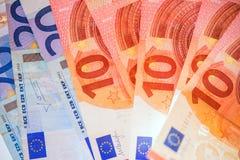 Евро представляет счет европейская валюта Стоковая Фотография RF