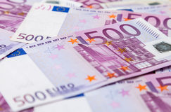 евро 500 примечаний Стоковые Фотографии RF