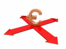 евро принципиальной схемы иллюстрация вектора