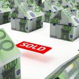 Евро рынка недвижимости Стоковые Фото