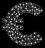 Евро сетки пирофакела 2D с засветками экрана иллюстрация вектора