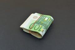 Евро с красной резиной Стоковое Изображение RF