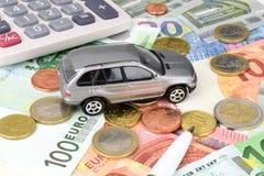 Евро финансов автомобиля Стоковая Фотография RF