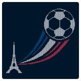 Евро 2016 Франции футбола или футбола Дизайн значка Стоковое Изображение