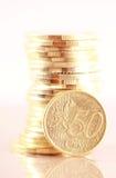 Евро 50 центов Стоковые Фотографии RF