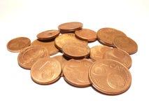 евро центов стоковые фото