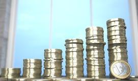 Евро чеканит диаграмму иллюстрация штока