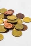 Евро чеканит рамку предпосылки Стоковое Изображение RF