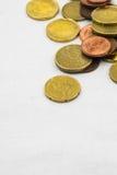 Евро чеканит рамку предпосылки Стоковые Фото