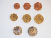 Евро чеканит серию Стоковое фото RF