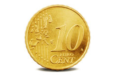 евро 10 центов Стоковое фото RF