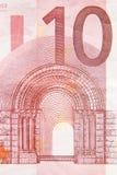 евро 10 Стоковое Изображение RF
