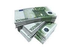 евро 100 одних Стоковое Изображение RF