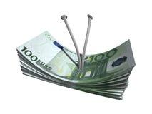 евро 100 одних Стоковое фото RF