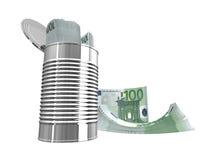 евро 100 одних Стоковая Фотография RF
