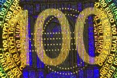 евро 100 одних стоковое фото