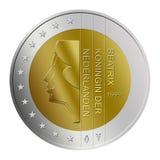 евро 2 голландецов монетки Стоковое Изображение RF