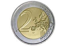 евро 2 монетки Стоковое Изображение