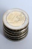 евро 2 монеток Стоковые Фотографии RF