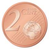 евро 2 центов иллюстрация штока