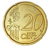 евро 20 цента Стоковое Изображение RF