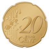 евро 20 центов иллюстрация штока