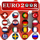 евро 2008 знамени иллюстрация штока