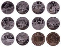 евро 2012 монеток Стоковое Фото