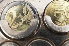 евро 22 монеток центов Стоковое фото RF