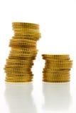 евро 3 50 монеток цента Стоковое Фото