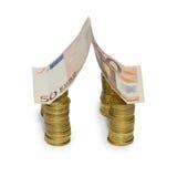 евро 50 кредитки Стоковые Изображения