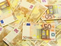 евро 50 предпосылок Стоковые Фотографии RF