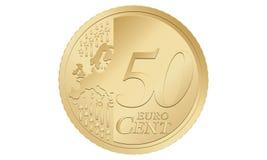 евро 50 центов иллюстрация вектора