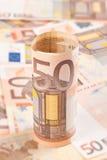 евро 50 2 предпосылок Стоковые Фото