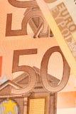 евро 50 Стоковое фото RF
