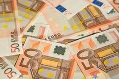 евро 50 Стоковая Фотография RF